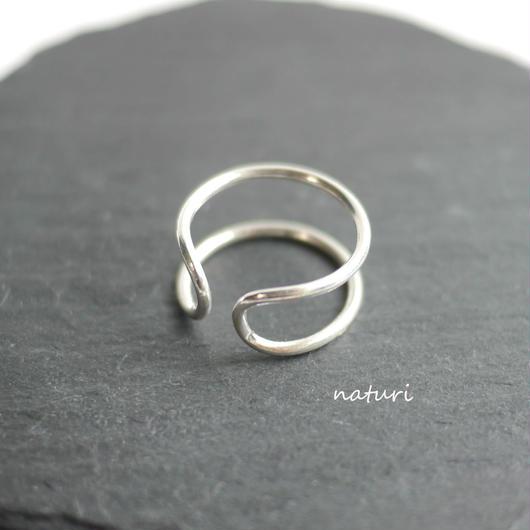 【luna】sv925 moon ring