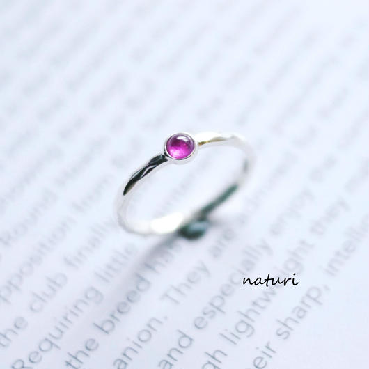 【tronc】sv925 pink sapphire ring (order)