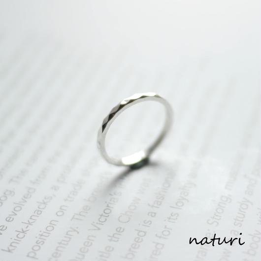 【tronc】sv925 hammered ring