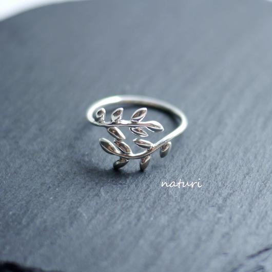【feuille】sv925 leaf ring