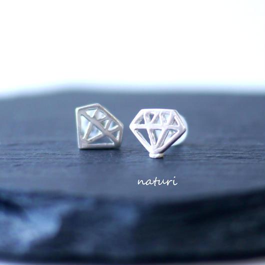 【diamante】sv925 diamond pierce (2pcs)