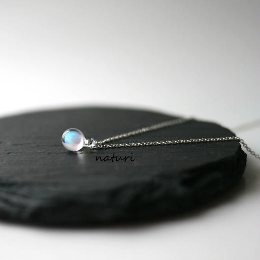 【pianeta】glass opal necklace
