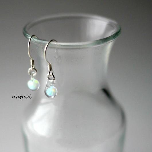 【pianeta】glass opal pierce (2pcs)