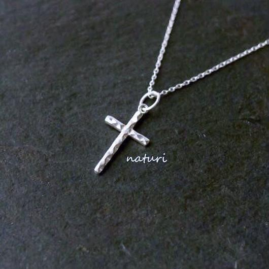 【tronc】sv925 reversible cross necklace