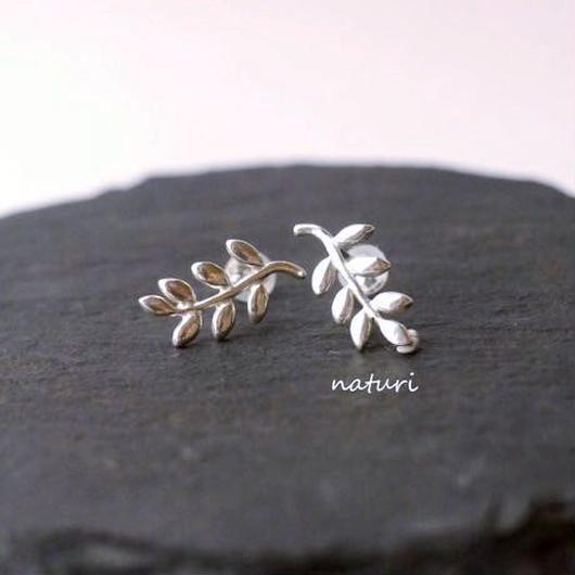 【feuille】sv925 leaf pierceⅡ (2pcs)