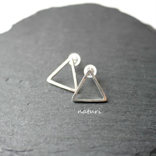 【triangle】sv925 sankaku pierce (2pcs)