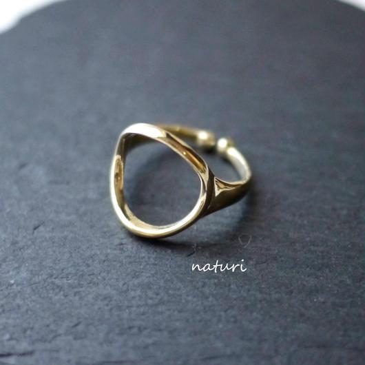 【luna】brass moon ring Ⅱ