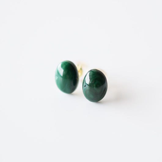 天然石ピアス/マラカイト