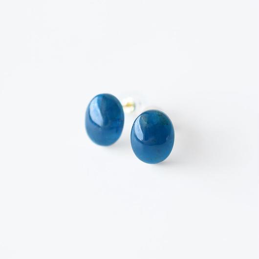 天然石ピアス/ブルーアパタイト