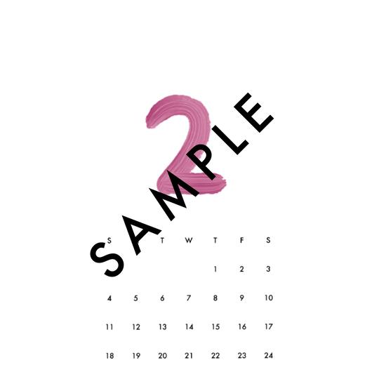 2018 FEB〈 iPhone calendar 〉
