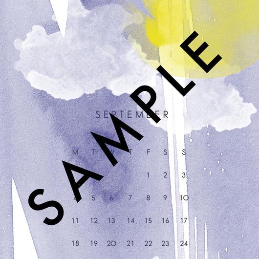 2017 SEP〈 desktop calendar 〉