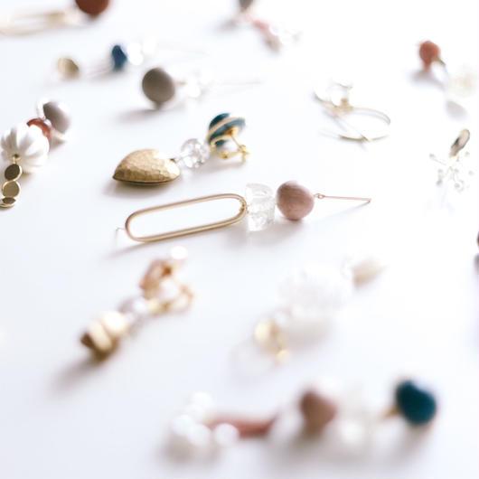 moon  -  vintage beads pierce
