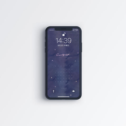 2018 AUG〈 iPhone calendar 〉
