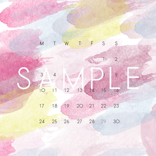 2017 APR〈 iPhone calendar 〉