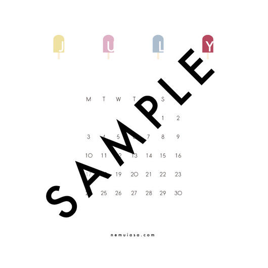 2017 JULY 2〈 iPhone calendar 〉