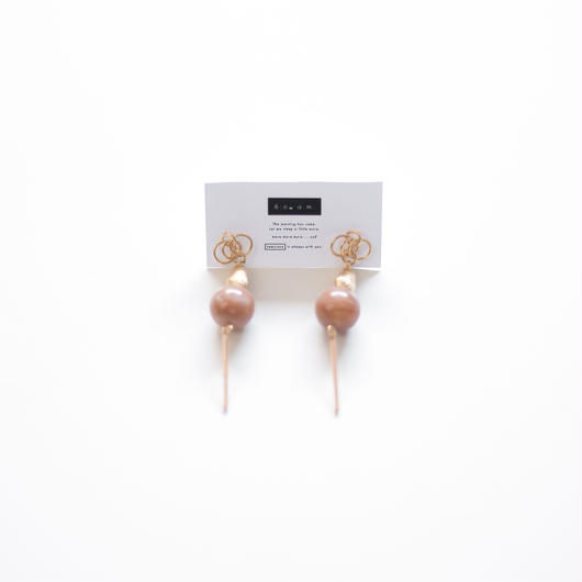 misty  -  vintage beads pierce