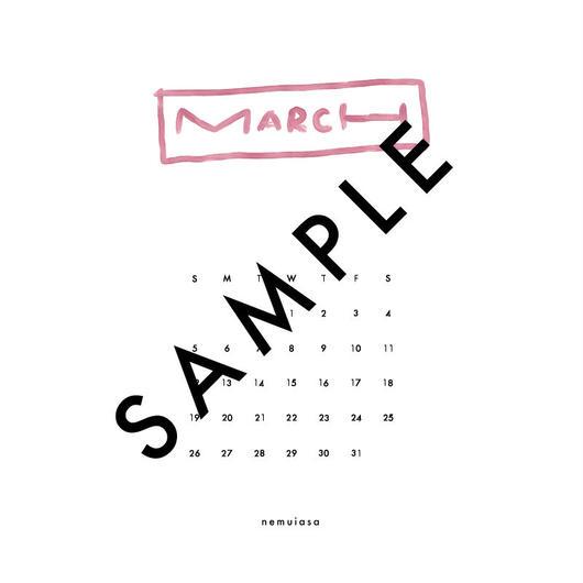 2018 MAR〈 iPhone calendar 〉
