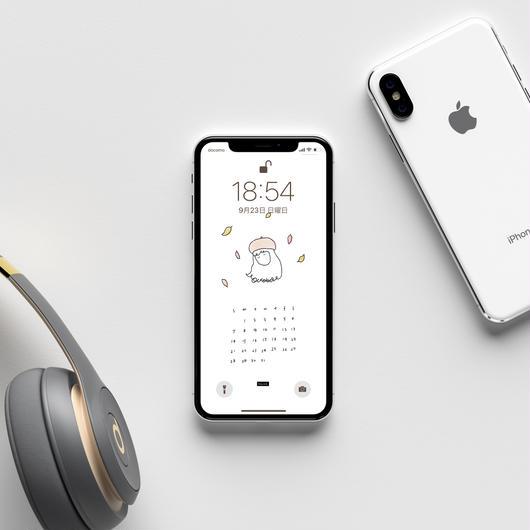2018 OCT〈 iPhone calendar 〉