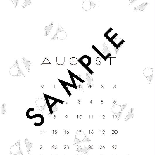2017 AUG〈 iPhone calendar 〉