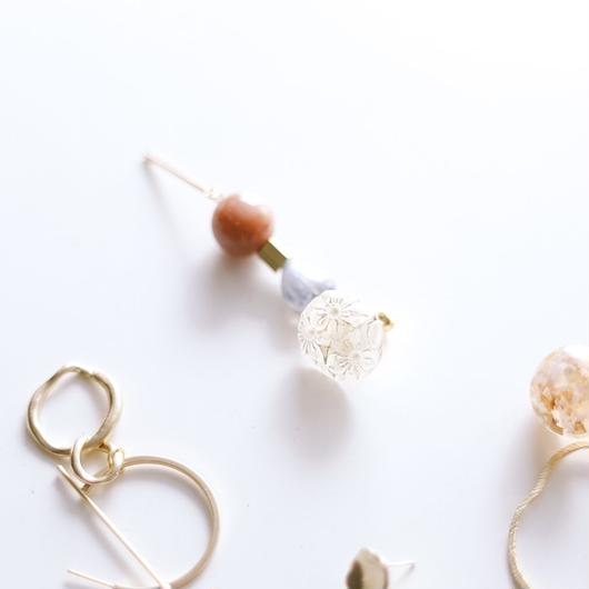floral - vintage beads earring