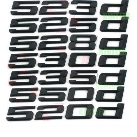 BMW エンブレム リア ステッカー ブラック 520d 523d 525d 528d 530d 535d 550d xd h00266