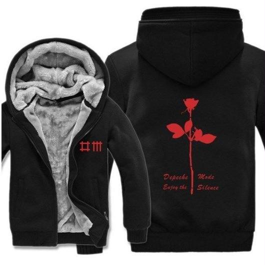 高品質デペッシュ·モード Depeche Mode フリースパーカー  スウェット 衣装 コスチューム 小道具 海外限定 13