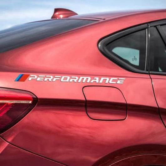 BMW ステッカー Mパフォーマンス リアフェンダー カーサイド ロゴ デカール e46 e39 e90 f30 f34 f10 x5 x6 e60 f15 e36 e53 e34 h00083