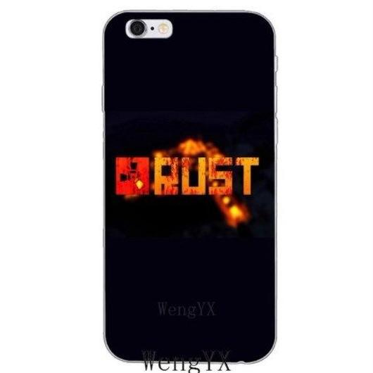 RUST ラスト TPU シリコン Iphone ケース アイフォンケース  オープンワールドサバイバルゲーム  5
