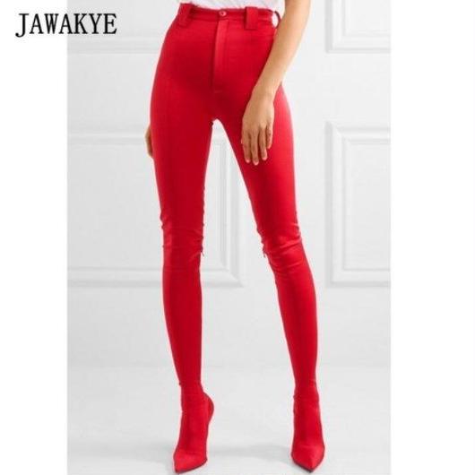 【Jawakye】ブーツパンツ  ブーツとパンツの一体型 セクシーなハイヒール サイハイブーツ ロンググーツ   / リアーナ スタイル ・ドウツェン・クローススタイル  セレブ ファッション