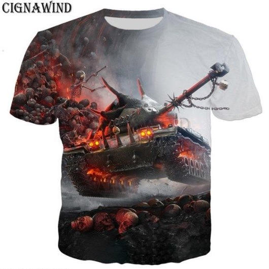 World of Tanks ワールドオブタンクス WoT 3Dデザイン Tシャツ 半袖  ユニセックス ゲームグッズ  WoTグッズ  8