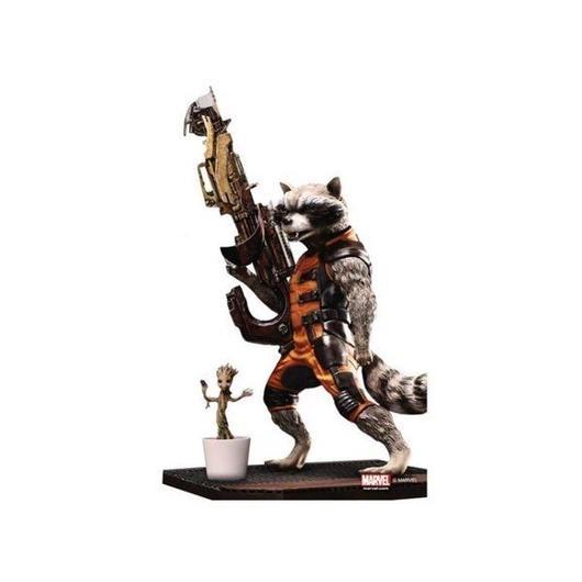 マーベル ドラゴン DRAGON Guardians of The Galaxy Action Hero Vignette - Rocket Raccoon With Baby Groot