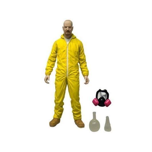 """ブレイキング バッド メズコ MEZCO TOYZ Breaking Bad 6"""" Walter White - Yellow Hazmat Suit"""