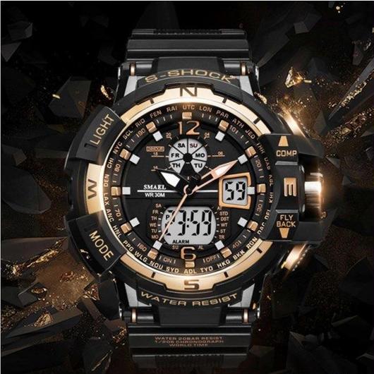 メンズスポーツ腕時計 海外トップブランド デジタルデュアルタイム 50m防水 ファッション ミリタリー