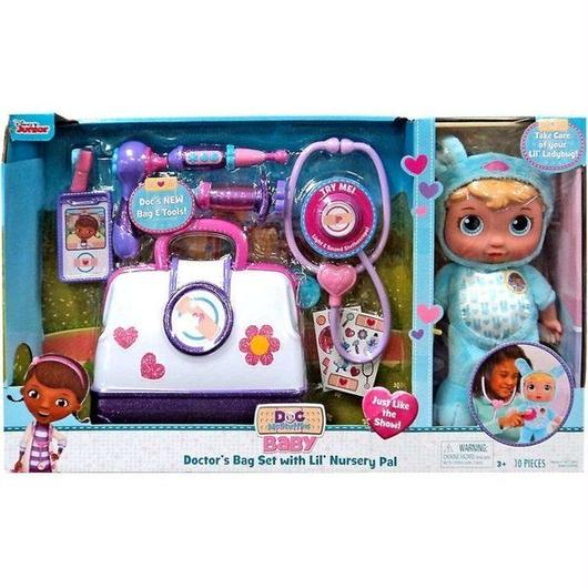 ドックはおもちゃドクター Doc McStuffins ジャストプレイ おもちゃ Disney Baby Doctor's Bag Set with Lil' Nursery Pal Playset