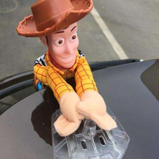 トイストーリー toy story ウッディ 車 アクセサリー ぶら下がり しがみつき  人形 30cm