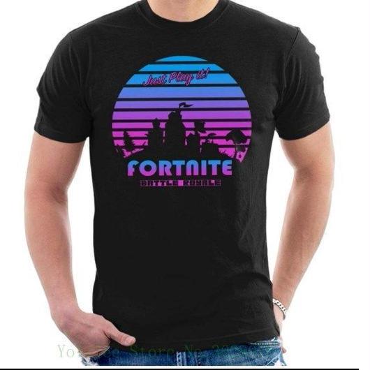 Fortnite フォートナイトバトルロワイヤル レトロ80s Tシャツ トップス  メンズ