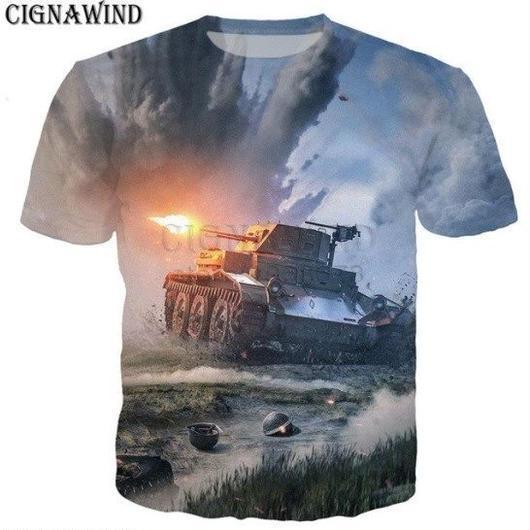 World of Tanks ワールドオブタンクス WoT 3Dデザイン Tシャツ 半袖  ユニセックス ゲームグッズ  WoTグッズ  3
