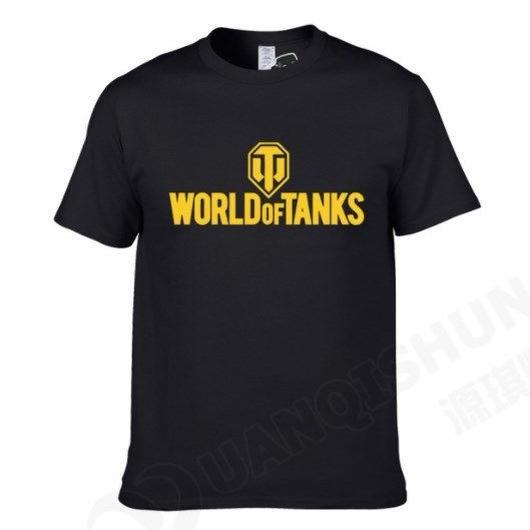 World of Tanks ワールドオブタンクス WoT シンプル ロゴデザイン Tシャツ 半袖  ユニセックス ゲームグッズ  WoTグッズ   ブラック1