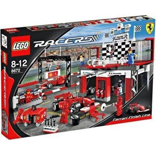 レゴ LEGO おもちゃ Racers Ferrari Finish Line Set #8672
