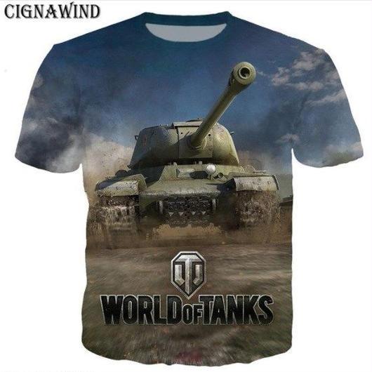 World of Tanks ワールドオブタンクス WoT 3Dデザイン Tシャツ 半袖  ユニセックス ゲームグッズ  WoTグッズ  6