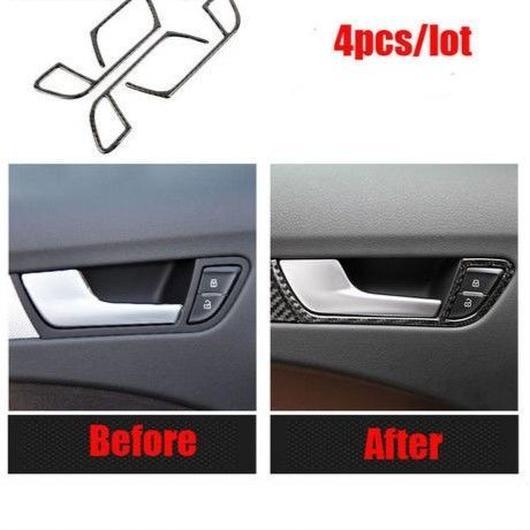 アウディ 4個入 ドアハンドル カバー Audi A4 A5 カーボン RS Sline h00365