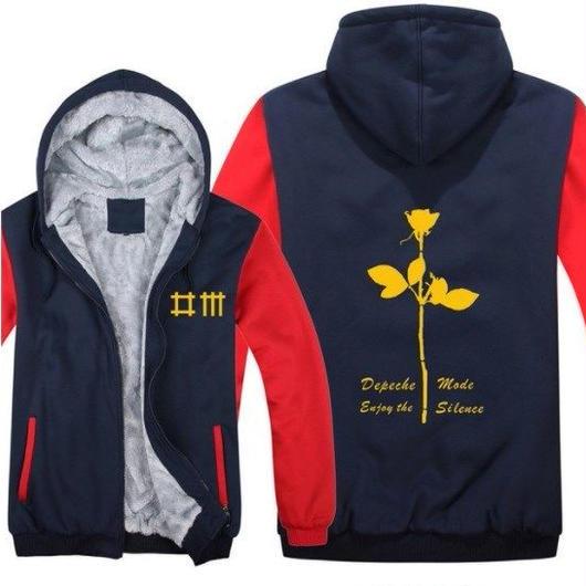 高品質デペッシュ·モード Depeche Mode フリースパーカー  スウェット 衣装 コスチューム 小道具 海外限定 16