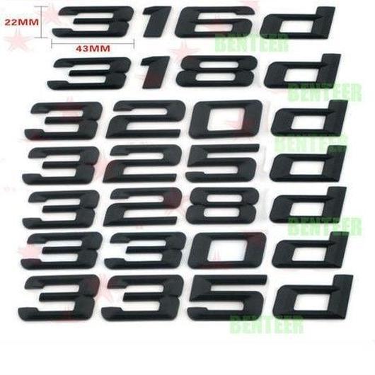 BMW エンブレム リア ステッカー ブラック 316d 318d 320d 325d 328d 330d 335d xd  h00263