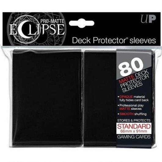 ウルトラプロ Ultra Pro カードスリーブ おもちゃ Eclipse Pro-Matte Black Standard Card Sleeves [80 Count]