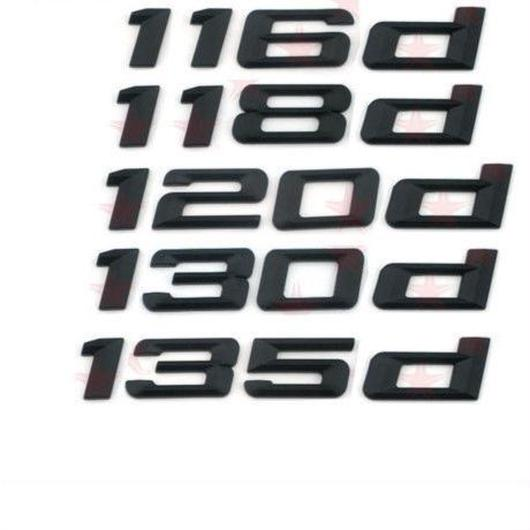 BMW エンブレム リア ステッカー ブラック 116d 118d 120d 125d 130d 135d xd h00265