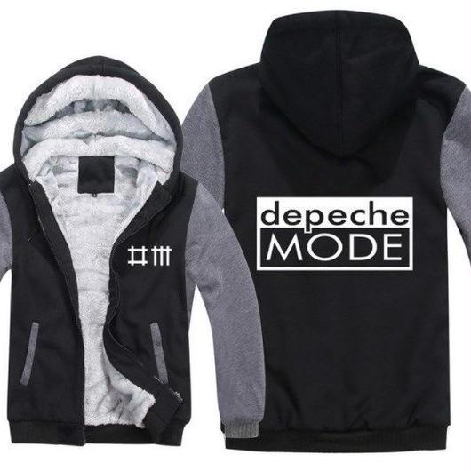 高品質デペッシュ·モード Depeche Mode フリースパーカー  スウェット 衣装 コスチューム 小道具 海外限定 7
