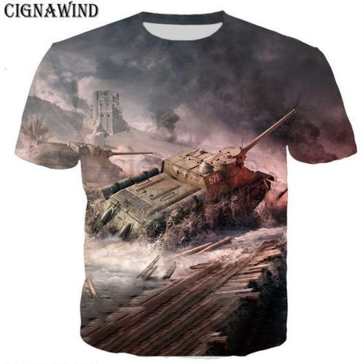 World of Tanks ワールドオブタンクス WoT 3Dデザイン Tシャツ 半袖  ユニセックス ゲームグッズ  WoTグッズ  7