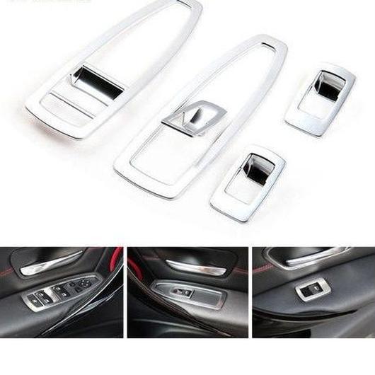 BMW ウィンドウボタンカバー 5個入 F30 320li 116i 118i 窓 ステッカー 304ステンレススチール h00276