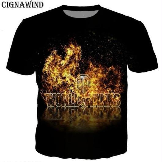World of Tanks ワールドオブタンクス WoT 3Dデザイン Tシャツ 半袖  ユニセックス ゲームグッズ  WoTグッズ  5