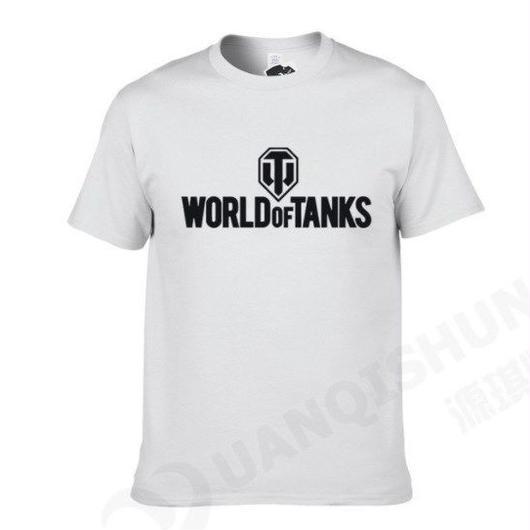 World of Tanks ワールドオブタンクス WoT シンプル ロゴデザイン Tシャツ 半袖  ユニセックス ゲームグッズ  WoTグッズ   ホワイト3